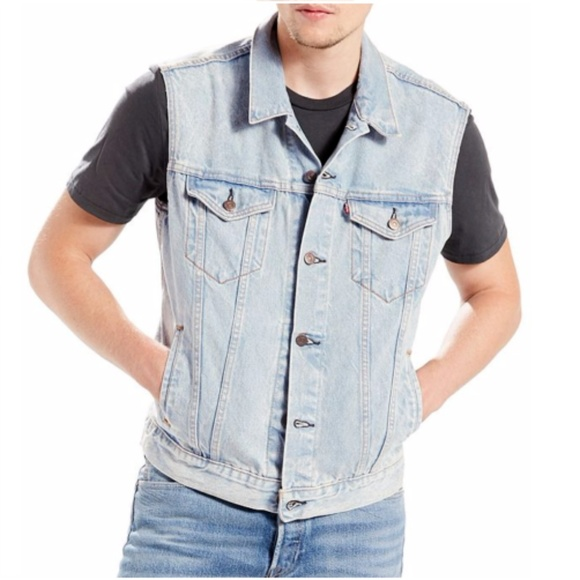 Levi S Jackets Coats Levis Red Tab Blue Denim Vest Mens Nwt S